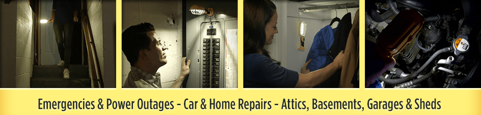 Emergencies & Power Outages - Car & Home Repairs - Attics, Basements, Garages & Sheds